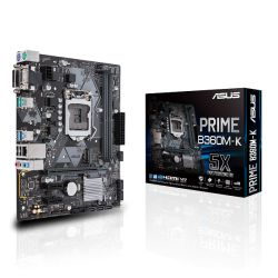 Asus PRIME B360M-K, Intel B360, 1151, Micro ATX, DDR4, VGA, DVI, M.2, USB 3.1 Gen2
