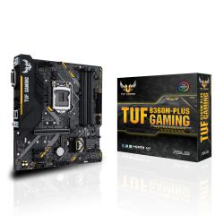Asus TUF B360M-PLUS GAMING, Intel B360, 1151, Micro ATX, DDR4, DVI, HDMI, RGB Lighting, M.2
