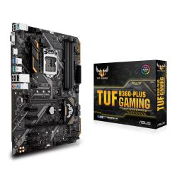 Asus TUF B360-PLUS GAMING, Intel B360, 1151, ATX, DDR4, VGA, HDMI, RGB Lighting, Dual M.2