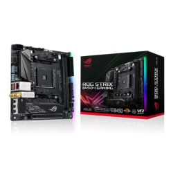 Asus ROG STRIX B450-I GAMING, AMD B450, AM4, Mini ITX, 2 DDR4, HDMI, Wi-Fi, RGB Lighting, M.2