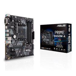 Asus PRIME B450M-A, AMD B450, AM4, Micro ATX, 4 DDR4, VGA, DVI, HDMI, RGB Header, M.2