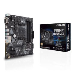Asus PRIME B450M-ACSM - Corporate Stable Model, AMD B450, AM4, Micro ATX, 4 DDR4, VGA, DVI, HDMI, M.2