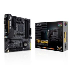 Asus TUF GAMING B450M-PLUS II, AMD B450, AM4, Micro ATX, 4 DDR4, XFire, DVI, HDMI, RGB Lighting, M.2