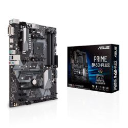 Asus PRIME B450-PLUS, AMD B450, AM4, ATX, 4 DDR4, XFire, DVI, HDMI, M.2, RGB Header