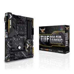 Asus TUF B450-PLUS GAMING, AMD B450, AM4, ATX, 4 DDR4, XFire, DVI, HDMI, RGB Lighting, M.2