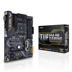 Asus TUF B450-PRO GAMING, AMD B450, AM4, ATX, 4 DDR4, XFire, DVI, HDMI, M.2, RGB Lighting