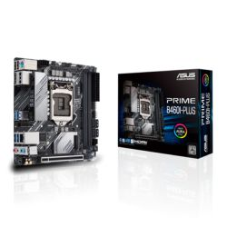 Asus PRIME B460I-PLUS, Intel B460, 1200, Mini ITX, 2 DDR4, HDMI, DP, RGB, M.2