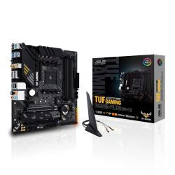 Asus TUF GAMING B550M-PLUS (WI-FI), AMD B550, AM4, Micro ATX, 4 DDR4, HDMI, DP, XFire, AX Wi-Fi, 2.5GB LAN, PCIe4, RGB Lighting, M.2
