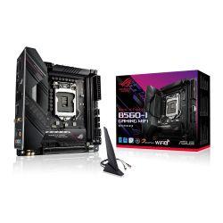 Asus ROG STRIX B560-I GAMING WIFI, Intel B560, 1200, Mini ITX, 2 DDR4, HDMI, DP, 2.5G LAN, AX Wi-Fi, RGB, 2x M.2