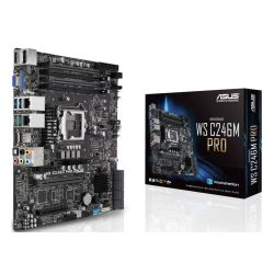 Asus WS C246M PRO Rack-Optimized Workstation, Intel C246, 1151, Micro ATX, VGA, HDMI, DP, Dual LAN, M.2
