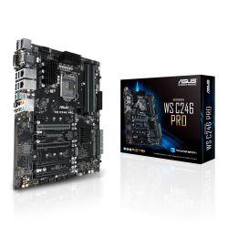 Asus WS C246 PRO Workstation, Intel C246, 1151, ATX, VGA, DVI, HDMI, DP, Dual LAN, USB 3.1 Gen2, M.2