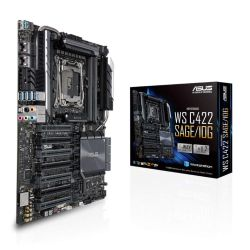 Asus WS C422 SAGE/10G, Workstation, Intel C422, 2066, CEB, SLI/XFire, Dual 10G LAN, VRM Heatsink, M.2