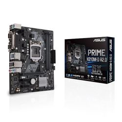 Asus PRIME H310M-D R2.0, Intel H310, 1151, Micro ATX, DDR4, VGA, HDMI, Parallel, Serial, LED Lighting, M.2
