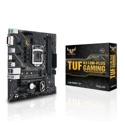Asus TUF H310M-PLUS GAMING, Intel H310, 1151, Micro ATX, DDR4, DVI, HDMI, M.2, RGB Lighting