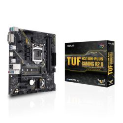 Asus TUF H310M-PLUS GAMING R2.0, Intel H310, 1151, Micro ATX, 2 DDR4, DVI, HDMI, RGB Lighting, M.2