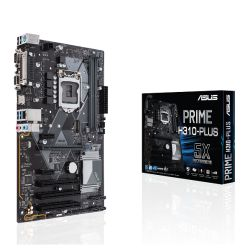 Asus PRIME H310-PLUS, Intel H310, 1151, ATX, DDR4, VGA, HDMI, M.2, Parallel, Serial, PCI