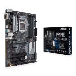 Asus PRIME H370-PLUS, Intel H370, 1151, ATX, DDR4, VGA, DVI, HDMI, XFire, Dual M.2, 2 PCI