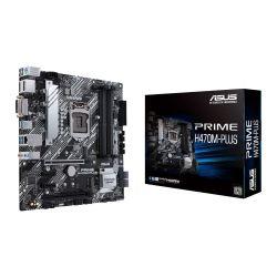 Asus PRIME H470M-PLUS, Intel H470, 1200, Micro ATX, 4 DDR4, XFire, DVI, HDMI, DP, M.2