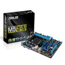 Asus M5A78L-M LX3, AMD 760G, AM3+, Micro ATX, 2 DDR3, RAID, USB2, 95W CPU Support