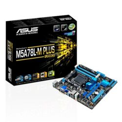 Asus M5A78L-M PLUS/USB3, AMD 760G, AM3+, Micro ATX, 4 DDR3, CrossFire, RAID, 125W CPU Support