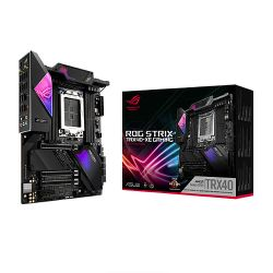 Asus ROG STRIX TRX40-XE GAMING, AMD TRX40, sTRX40, ATX, XFire/SLI, AX Wi-Fi, 2.5GB LAN, RGB Lighting, M.2, 64 Core CPU Support