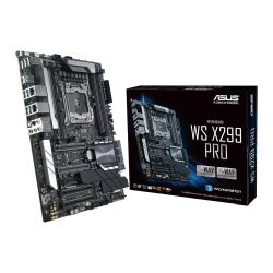 Asus WS X299 PRO, Workstation, Intel X299, 2066, ATX, DDR4, Dual M.2, U.2, Dual LAN, SLI/XFire