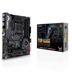 Asus TUF GAMING X570-PLUS, AMD X570, AM4, ATX, 4 DDR4, HDMI, DP, XFire, PCIe4, RGB Lighting, M.2