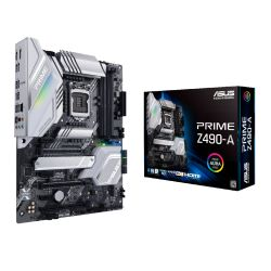 Asus PRIME Z490-A, Intel Z490, 1200, ATX, 4 DDR4, SLI/XFire, HDMI, DP, 2.5GB LAN, RGB Lighting, M.2
