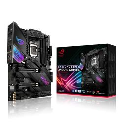 Asus ROG STRIX Z490-E GAMING, Intel Z490, 1200, ATX, 4 DDR4, XFire/SLI, HDMI, DP, AX Wi-Fi, 2.5G LAN, RGB Lighting, M.2