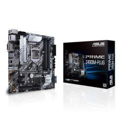 Asus PRIME Z490M-PLUS, Intel Z490, 1200, Micro ATX, 4 DDR4, XFire, DVI, HDMI, DP, M.2