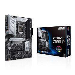 Asus PRIME Z590-P, Intel Z590, 1200, ATX, 4 DDR4, HDMI, DP, 2.5G LAN, RGB, 3x M.2