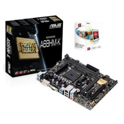 BUNDLE Asus A68HM-K Motherboard with AMD A4 X2 4000 CPU Soft Bundle