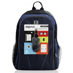 Approx APPNBBUNDLE40 Backpack & Mouse Bundle - 15.6 Case in Black & Blue with USB Optical Mouse