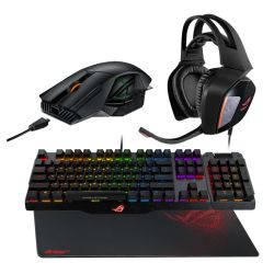 Asus Extreme ROG Bundle - Claymore Keyboard, Spatha Mouse, Centurion Headset, Sheath Mouse Pad, Soft Bundle