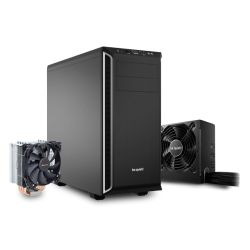 Be Quiet! Bundle 3 - Black & Silver Pure Base 600 Gaming Case, System Power 8 500W PSU and a Pure Rock Cooler, Boxed Separately