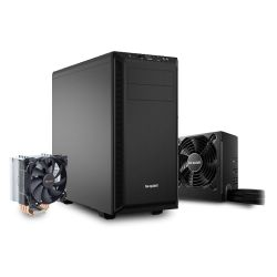 Be Quiet! Bundle 2 - Black Pure Base 600 Gaming Case, System Power 8 600W PSU and a Pure Rock Cooler, Boxed Separately