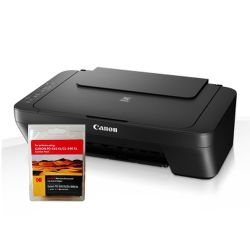 Canon Printer and Ink Bundle - Canon Pixma MG2550 All-In-One Printer and Kodak Remanufactured Black & Colour Ink Combo Pack