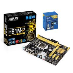 *SOFT BUNDLE* Asus H81M-P PLUS Motherboard & Intel Pentium Dual Core G3260 3.3GHz Processor