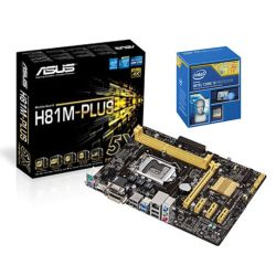 *SOFT BUNDLE* Asus H81M-PLUS Motherboard & Intel Core i3-4170  3.7GHz Processor