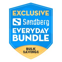 Sandberg Everyday Bundle, Wooden Stand Included, 5 Year Warranty