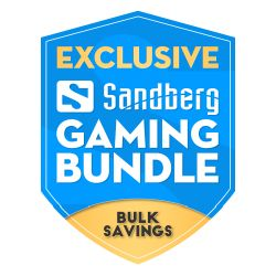 Sandberg Gaming Peripheral Bundle, 5 Year Warranty