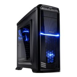Antec GX-330 Gaming Case with Window, ATX, No PSU, USB 3.0, Blue LED Fans, Black