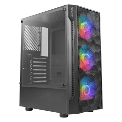 Antec NX260 Gaming Case w/ Glass Window, ATX, 3 Front ARGB fans, LED Control Button, PSU Shroud