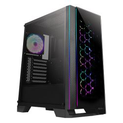 Antec NX600 ATX Gaming Case with Glass Window & Front Panel, No PSU, 4 x ARGB Fans, LED Control Button