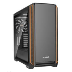 Be Quiet! Silent Base 601 Gaming Case with Window, E-ATX, No PSU, 2 x Pure Wings 2 Fans, PSU Shroud, Orange Trim