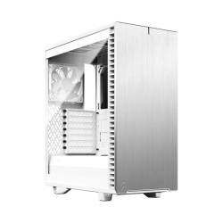 Fractal Design Define 7 Compact White TG Gaming Case w Clear Glass Window, ATX, 2 Fans, Sound Dampening, Ventilated PSU Shroud, USB-C, White