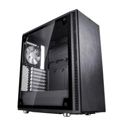 Fractal Design Define C (Black TG) Quiet Gaming Case w/ Clear Glass Window, ATX, 2 Fans, ModuVent Technology, PSU Shroud, Optional Top Filter