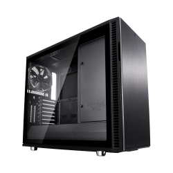 Fractal Design Define R6 (Black TG) Gaming Case w/ Clear Glass Window, E-ATX, No PSU, Modular Design, 3 Fans, Fan Hub, Sound Dampening