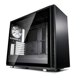 Fractal Design Define S2 (Black) Gaming Case w/ Light Tint Glass Window, E-ATX, Sound Dampening, PSU Shroud, Optional Top Filter, 3 Fans, USB-C