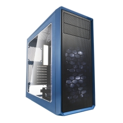 Fractal Design Focus G (Petrol Blue) Gaming Case w/ Clear Window, ATX, 2 White LED Fans, Kensington Bracket, Filtered Front, Top & Base Air Intakes
